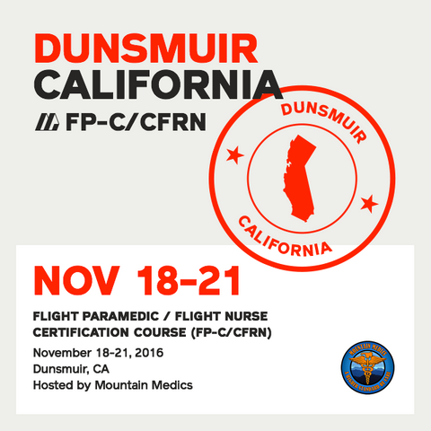 [Archived] Flight Paramedic Prep (California Nov 16) - FP-C/CFRN