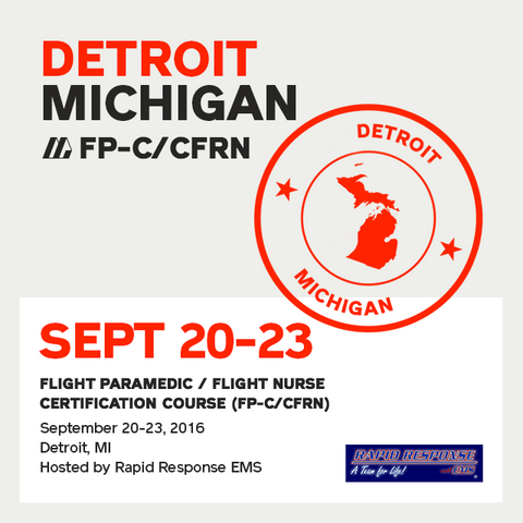 [Archived] Flight Paramedic Prep (Michigan Sep 16) - FP-C/CFRN