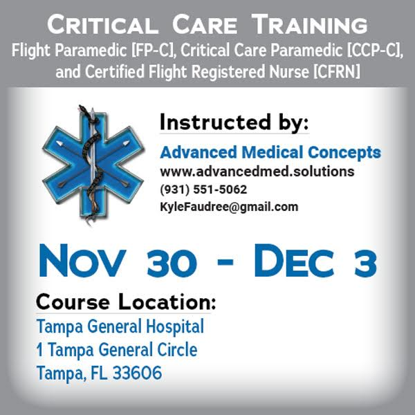 Critical Care Training - Florida Nov 2018