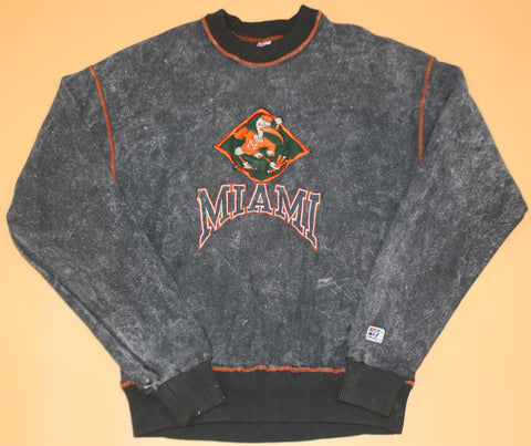 Vintage Miami Hurricanes Acid Wash Crewneck : XL