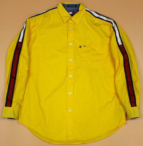 Tommy Hilfiger Yellow LS Button Up Shirt : L