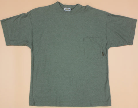 Vintage Quiksilver Green French Terry Pocket T-Shirt: S