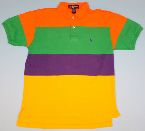 Vintage Polo Ralph Lauren Striped Collared Shirt : S