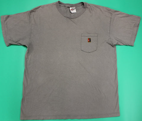 Vintage Nike Tennis Pocket T-Shirt Beige: XL