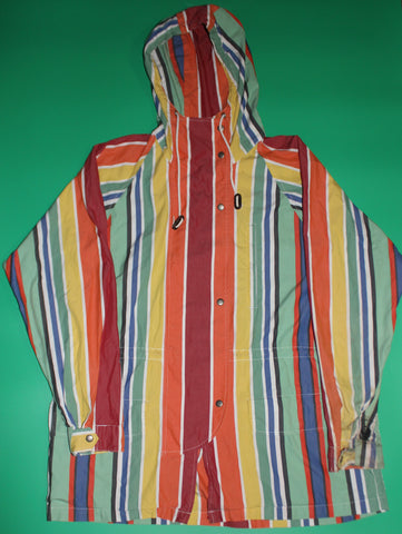 Vintage Polo Sport Multi-Color Striped Sailing Jacket: L