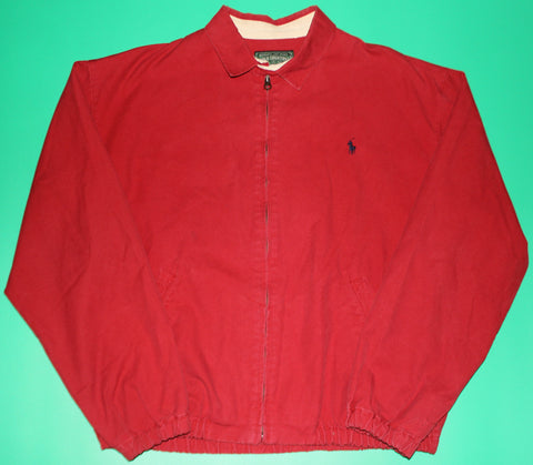 Vintage Polo Country Red Zip-Up Jacket: M