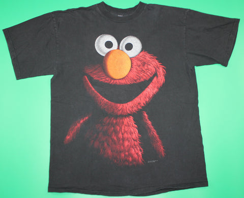 Vintage Elmo Double Sided Black T-Shirt: XL