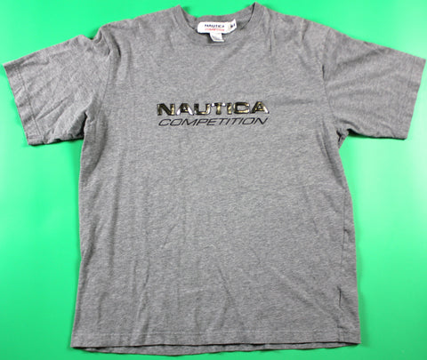 Nautica Competition Spellout Grey T-Shirt: M