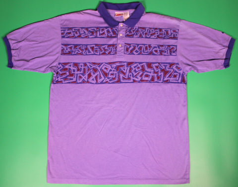 Vintage Nike F.I.T. Purple striped Polo Shirt: XL