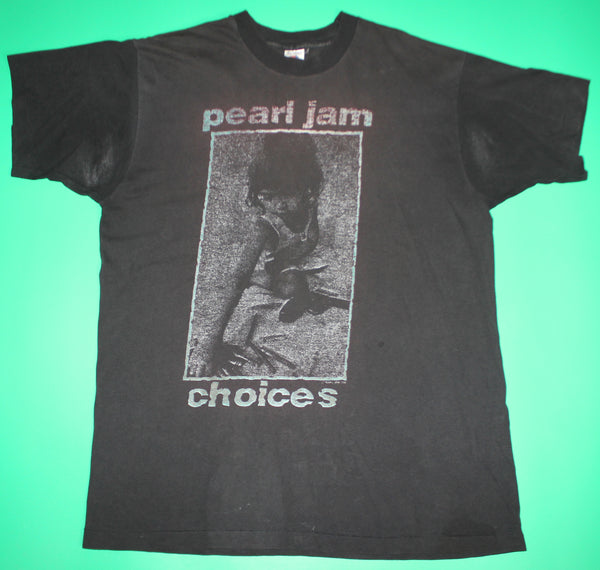Vintage 1992 Pearl Jam Choices Kids Crayons Guns Band T-Shirt: L