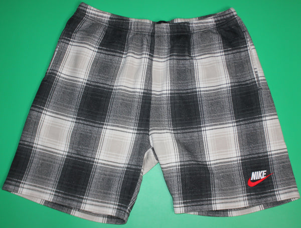 Nike X Supreme Black/White Plaid Cotton Sweat Shorts: L
