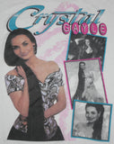 Vintage Crystal Gayle Country Singer White Concert T-Shirt: M