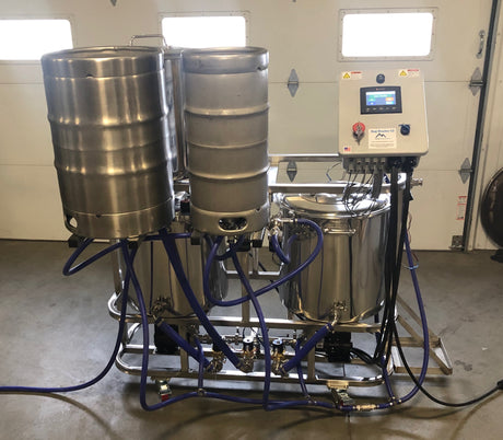 Semi-Automatic Keg Washer