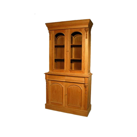 French Unpainted Bookcase 2 Door Display,2 Door Storage