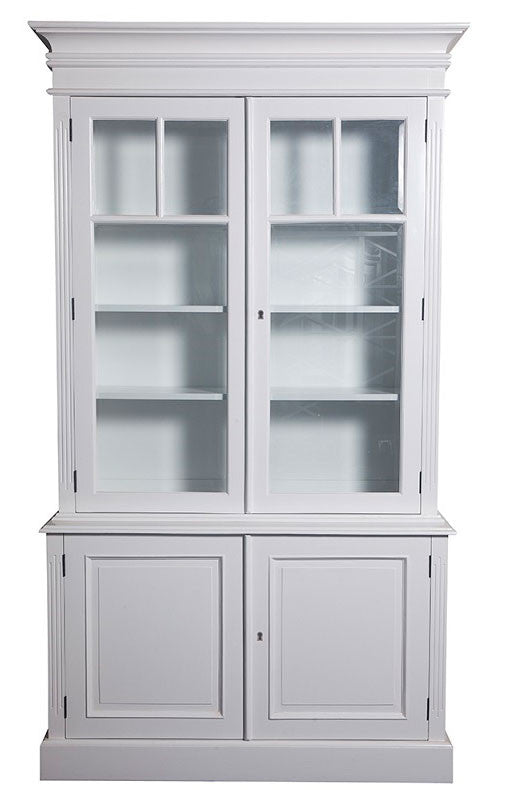 Provincial Display Cabinet with 2 glass display doors