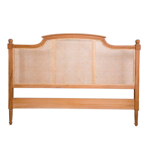 Phillipe Bed head with Rattan Queen