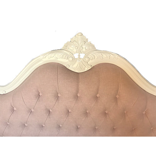 (Q) Queen Sabine Bed Complete - Pretty in Pink