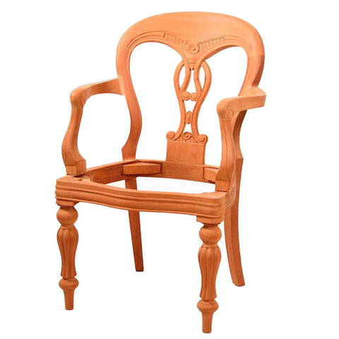 Fiddleback Dining Chair with Arms