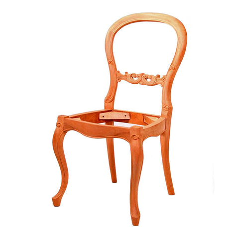 French Devin Cabriole Leg Dining Chair Unpainted