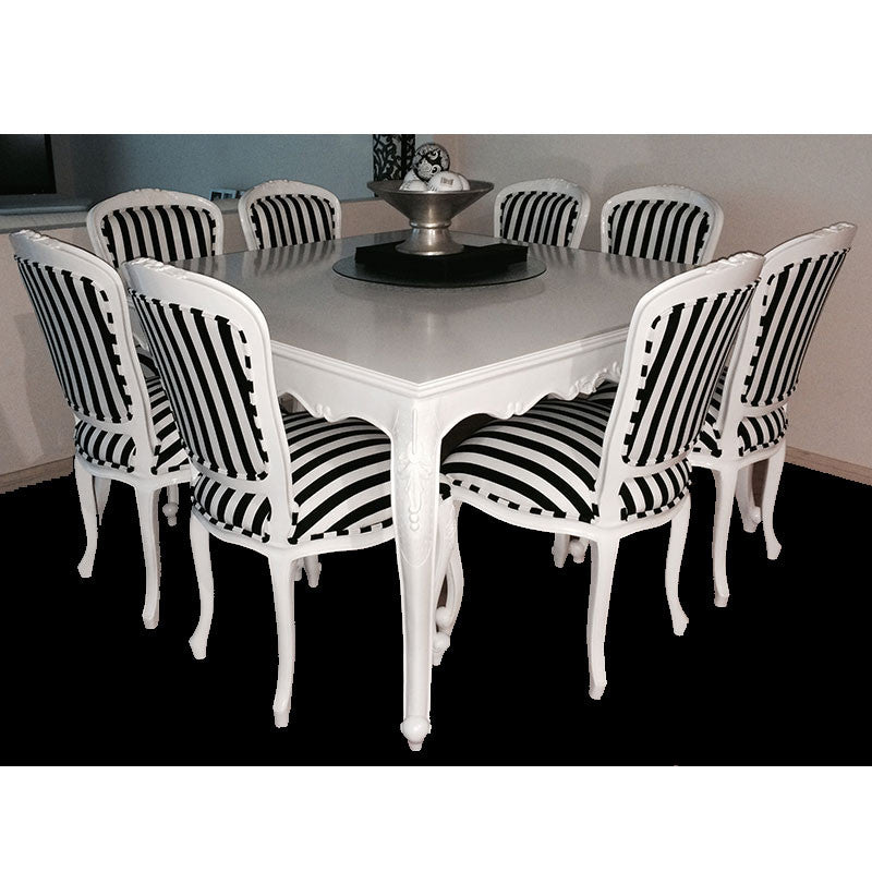 Lily Upholstered Back Dining Chair and Table