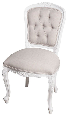 Lily Upholstered Back Dining Chair Linen