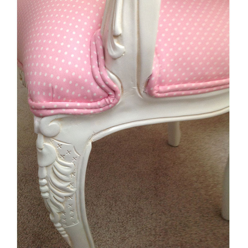 Lily Upholstered Child Chair side