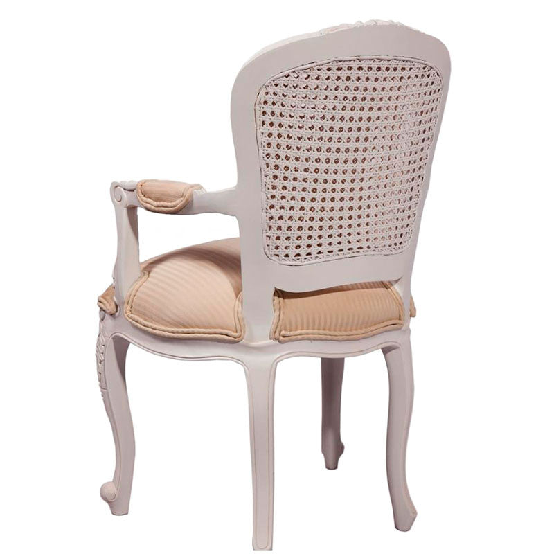 Lily Double Rattan Back Arm Chair Back