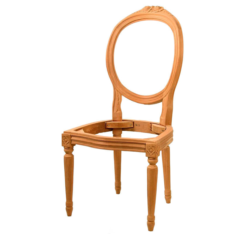 French Oval Carved Back Dining Chair