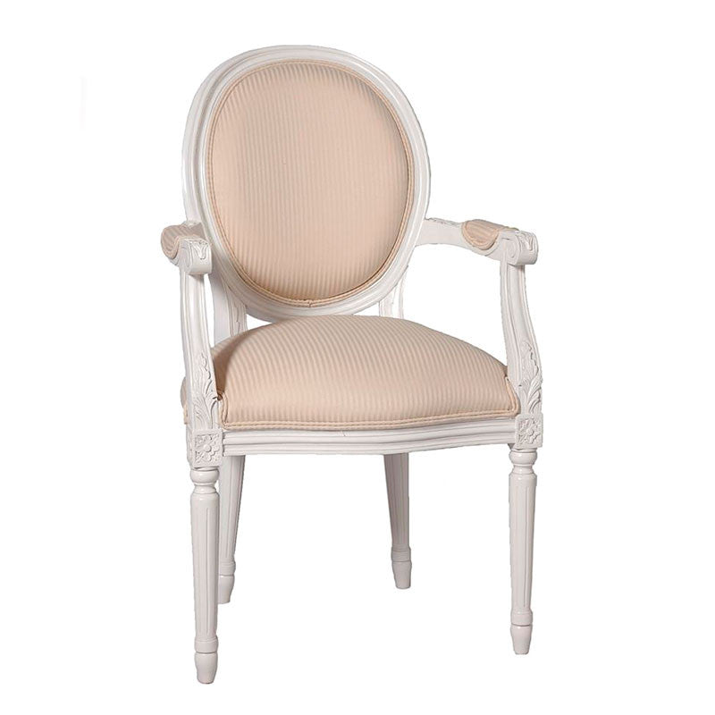 French Oval Arm Chair Plain Back
