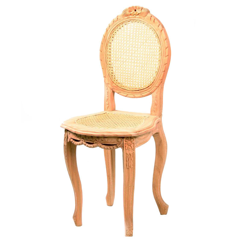 Louis Petite Chair with Rattan Seat and Back