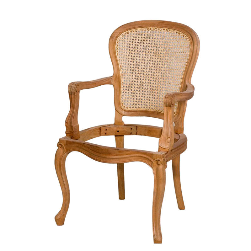 Georgian Rattan Back Dining Chair With Arms Fabulous