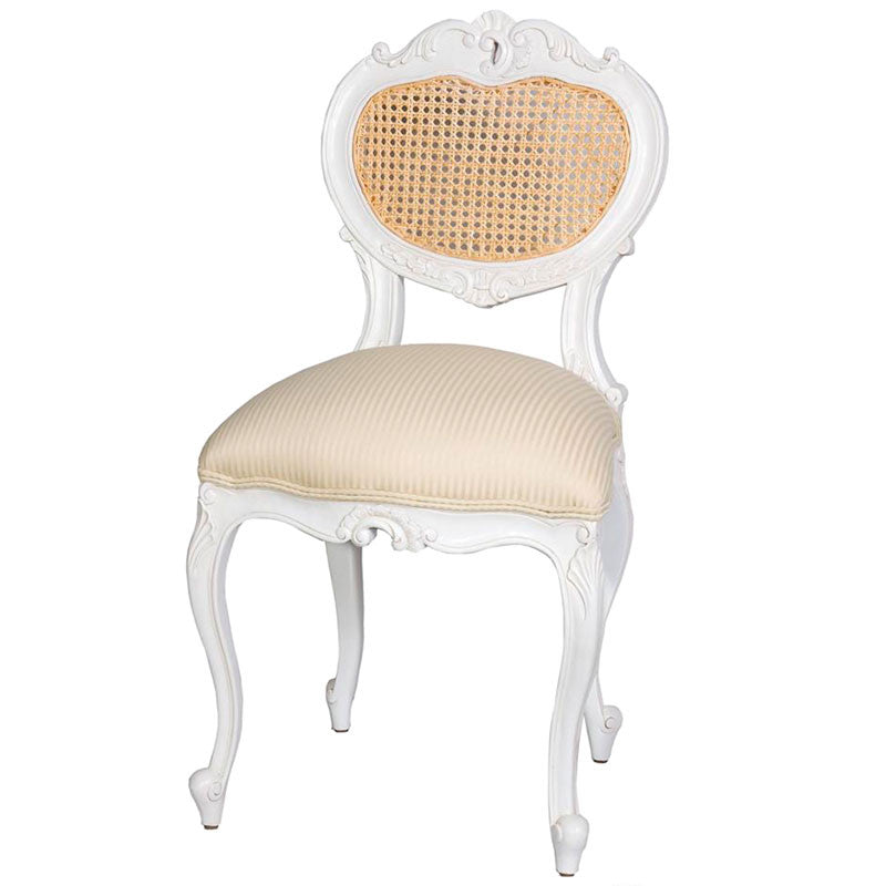 Sabine Heart Chair with Rattan Back
