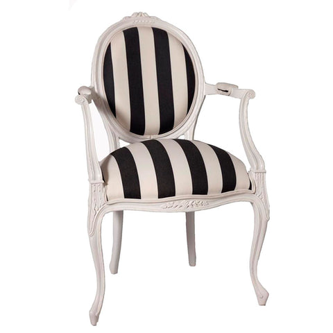 Lily Rose Upholstered Back Arm Chair