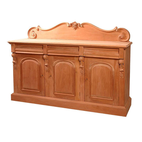 French Chiffonier 3 Door Unpainted