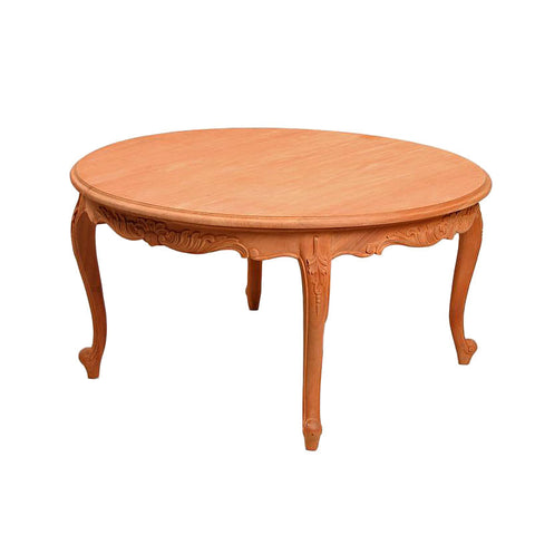 Round Carved Cabriole Leg Coffee Table