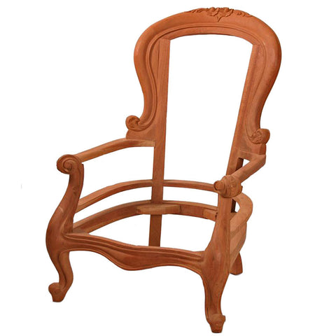 Grandfather Chair with Cabriole Leg for Upholstery