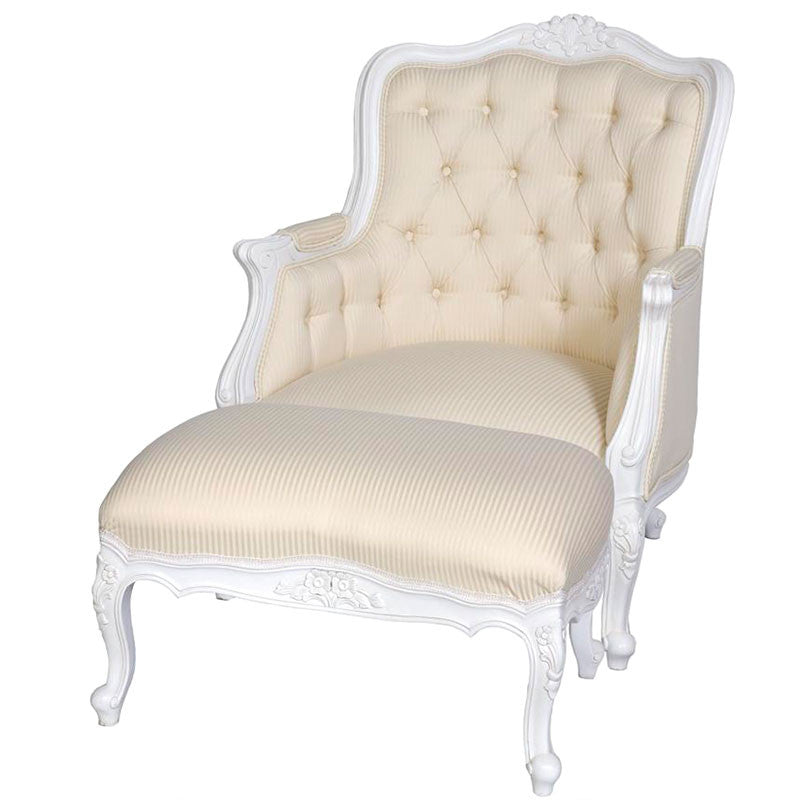 Louis Wing Chair with Footstool