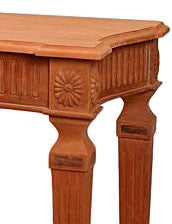 French Unpainted Hall Table with beautiful carvings