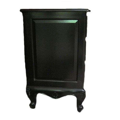 French Chest 4 Drawer Skirt same as French 6 Drawer - Black