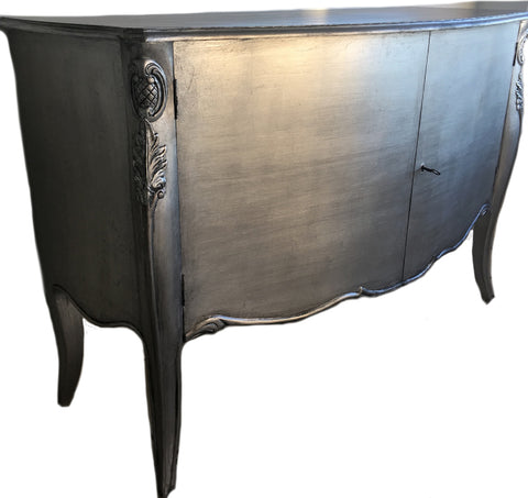 A Stunning Chiffonier 2 Door - Hand Placed Silver Leaf to external