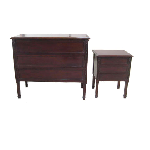Josephine Polished Timber Bedside of 3 Drawers