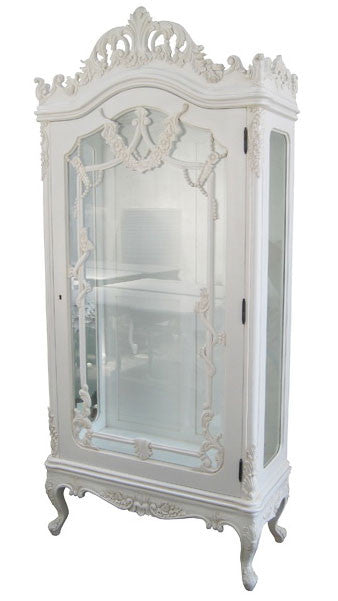 Showcase Louis Phillipe 1 Door with Bevelled Glass