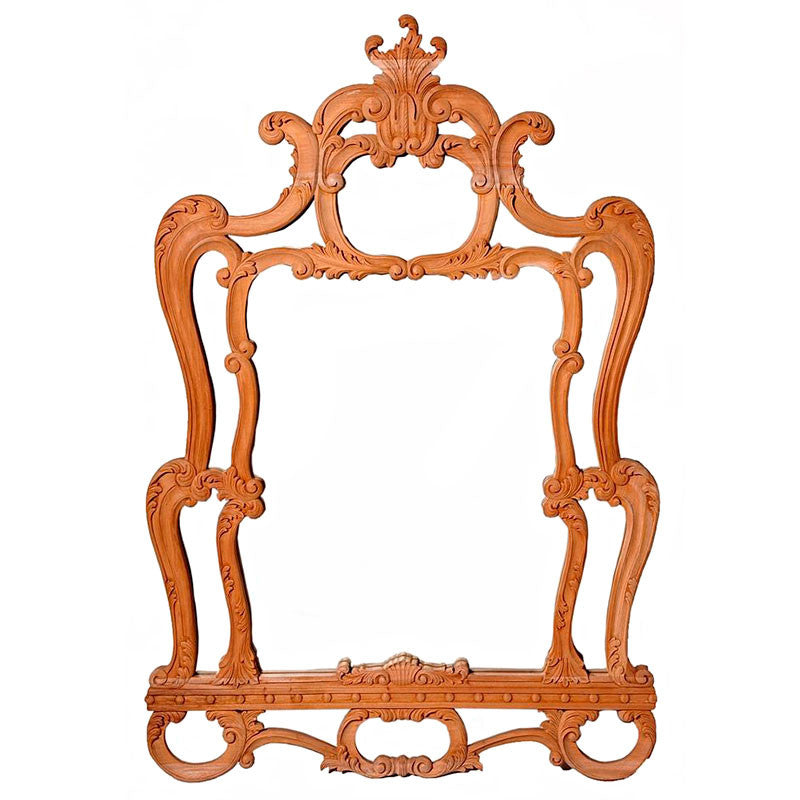Louis Mirror Frame with Bevelled Mirror Unpainted