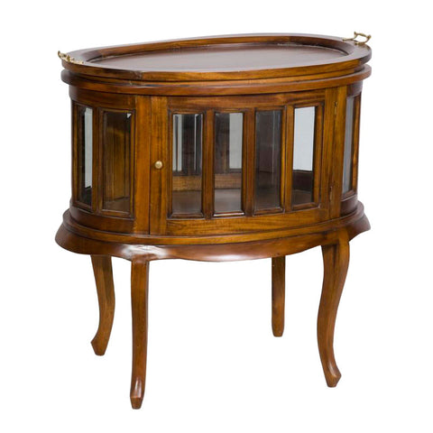 Oval Wine Table with Lift Off  Tray
