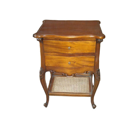 Timber Bedside 2 Drawer