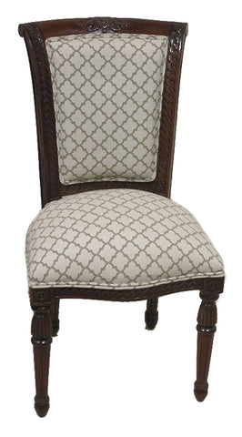 Polished Carved Chain Dining Chair