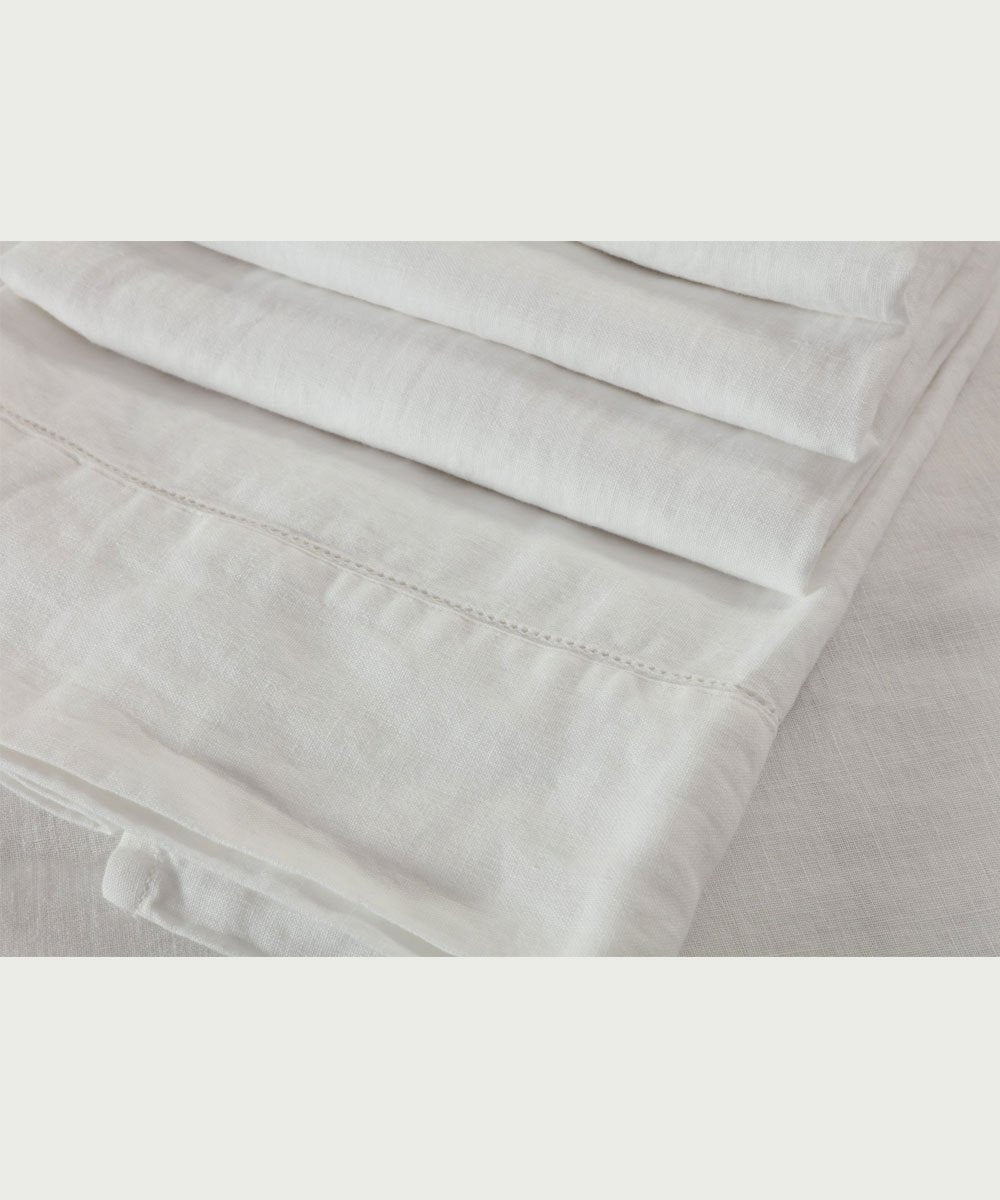 Pure French Linen White - Queen
