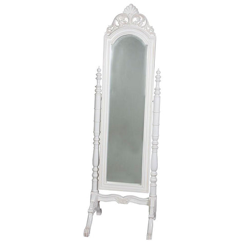 French Chival Full Length Mirror White