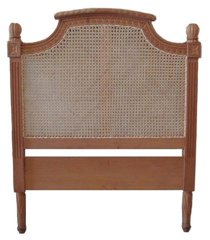 Phillipe Bed head with Rattan Single