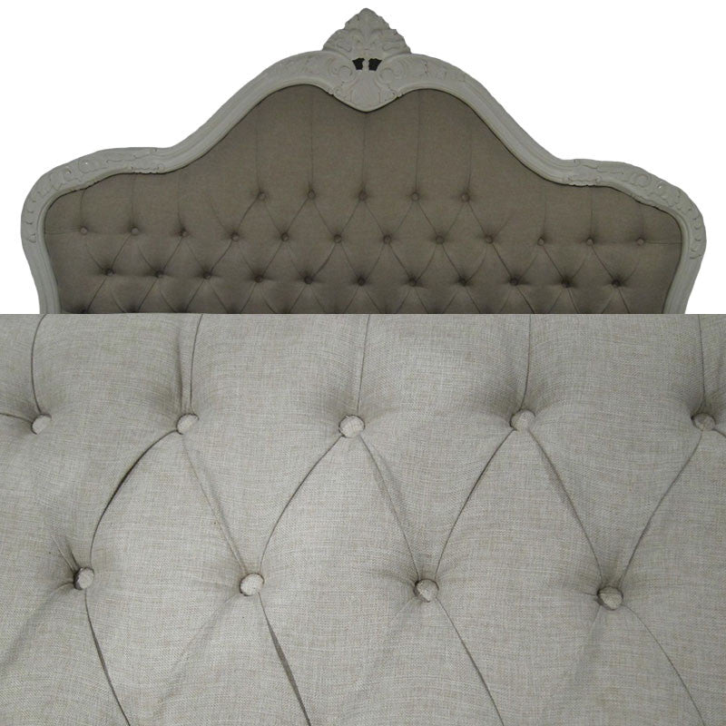 All the beds can be upholstered in the linen look!